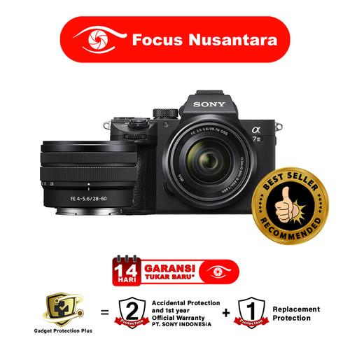 Foto Produk SONY Alpha A7 III kit FE 28-70mm f/3.5-5.6 OSS + FE 28-60mm f/4-5.6 dari Focus Nusantara