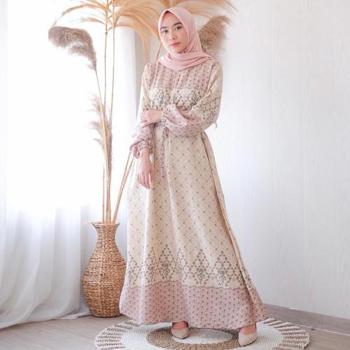 Foto Produk DYN Clothingline Zanna Dress Gamis Muslim - Beige, XXL dari DYN Clothingline Official