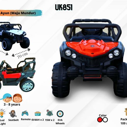 Foto Produk Mainan Mobil Aki Anak Jeep UK 851 Unikid BAN FULL KARET - Putih dari Mainan Anak Dede