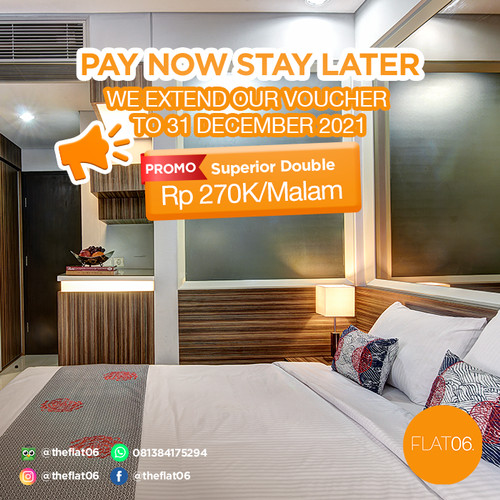 Foto Produk Voucher FLAT06 sampit Pay Now, Stay Later - Spr Double room, Room only dari FLAT06