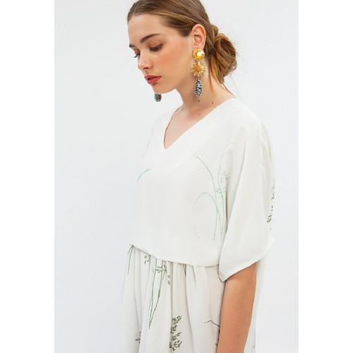 Foto Produk Summer Breeze Caftan Dress WHITE - L dari minimal