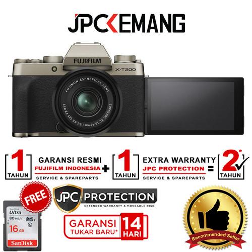Foto Produk Fujifilm X-T200 Fuji XT200 kit 15-45mm f/3.5-5.6 GARANSI RESMI - Champagne Gold dari JPCKemang