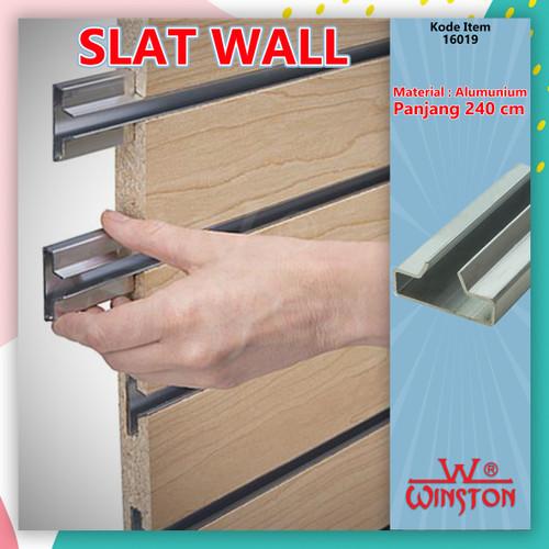 Foto Produk TIANG REL Bracket Gantung Slatwall Alumunium 2.4 Meter Slot Dinding dari WINSTON-OK OFFICIAL STORE