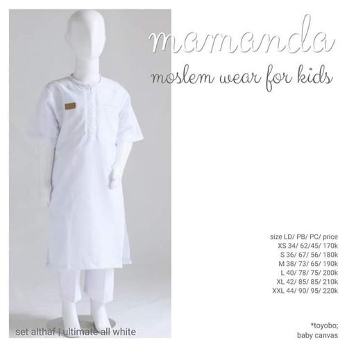 Foto Produk Kurta Anak All White set Celana Althaf Ultimate Series by Mamanda dari kedai berkah