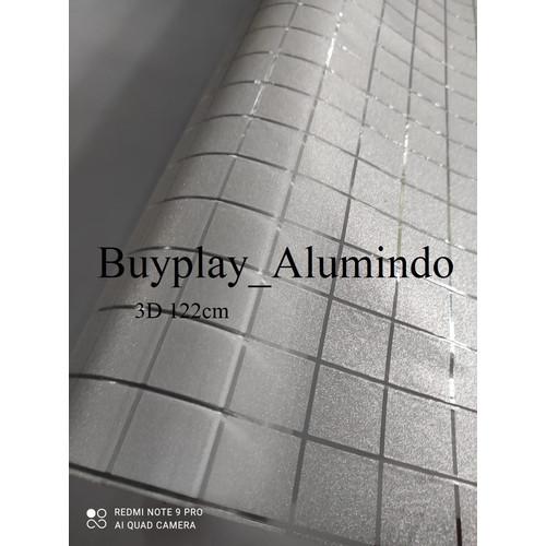 Foto Produk Sticker / Stiker Kaca Film Sandblast Sunblast motif 9560 Kotak Kotak - Bening (90cm) dari buyplay_Alumindo