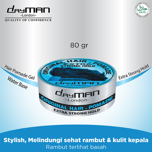 Foto Produk Dayman Hair Pomade - Extra Strong Hold 80 Gr dari Klinsen Dayman