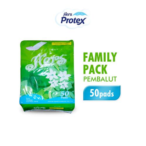 Foto Produk Hers Protex Pembalut Wanita Family Pack 23 cm 50 pads dari Wings Official Store