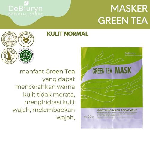 Foto Produk DeBiuryn Green Tea Mask 30gr - Masker Wajah Kulit Sensitif dari Debiuryn Dermacosmetics