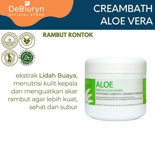 Foto Produk DeBiuryn Aloe Traditional Creambath Emulsion 350gr - Rambut Rontok dari Debiuryn Dermacosmetics