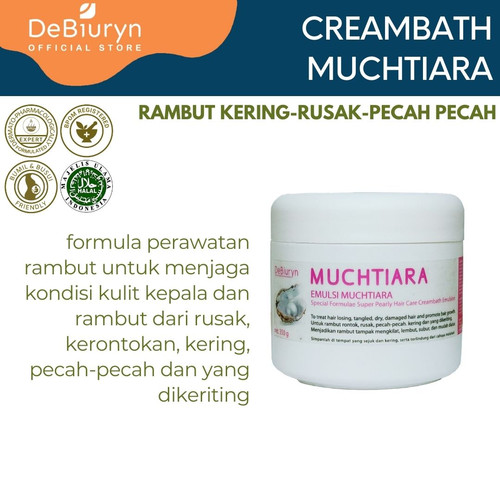 Foto Produk DeBiuryn Muchtiara Super Pearly Creambath Emulsion 350gr dari Debiuryn Dermacosmetics