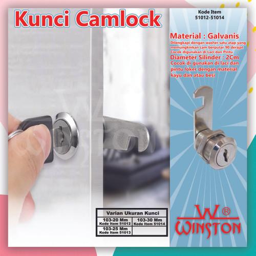 Foto Produk Kunci Kait Laci Lemari Loker Camlock Cam Lock Winston / 51012-13-14 - 103-20 mm dari WINSTON-OK OFFICIAL STORE