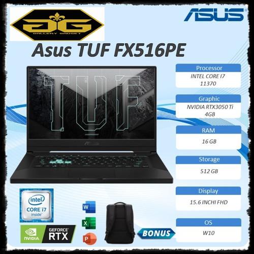 Foto Produk ASUS TUF DASH F15 FX516PE - I7R5B6T-O I7-11370H RTX3050TI dari Gallerygadget