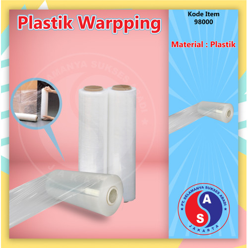 Foto Produk Plastik Wrap Wrapping Barang Bening Putih Stretch Film 50CMX200M/98000 dari WINSTON-OK OFFICIAL STORE