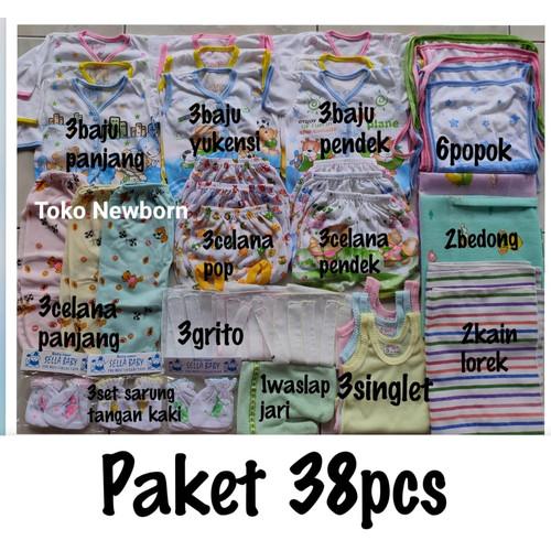 Foto Produk Hemat(38pcs) Paket perlengkapan Baju Bayi NEWBORN(baru lahir) - OBRAL, 0-6bulan dari Toko Newborn
