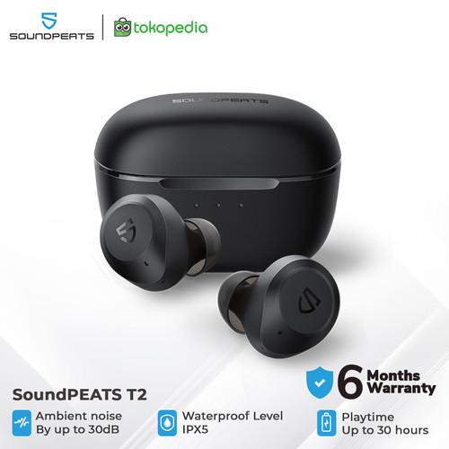 Foto Produk SoundPEATS T2 Hybrid Active Noise Cancelling Wireless Earbuds - Black dari SOUNDPEATS OFFICIAL