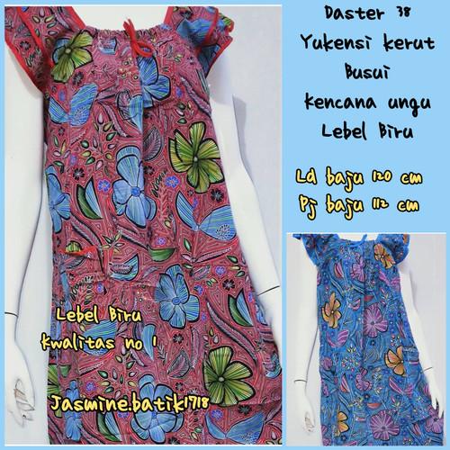 Foto Produk DASTER YUKENSI 38 KENCANA UNGU KUB dari jasmine.batik1718
