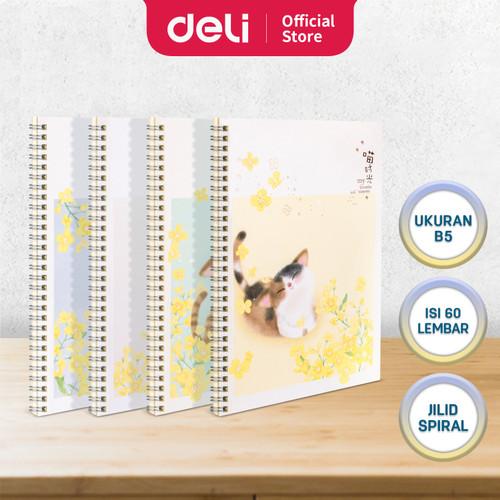 Foto Produk Deli Loose-Leaf Buku Notebook spiral B5 60 lembar LB560 - CAT dari Deli Stationery