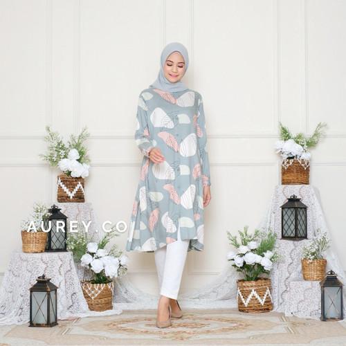 Foto Produk Tunik panjang Shaila katun rayon atasan muslim tunik - LT SALT EGGS, B Ld 110cm dari AUREY BATIK