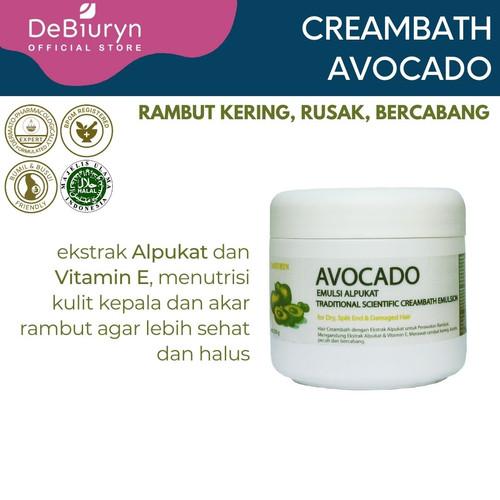 Foto Produk DeBiuryn Avocado Creambath Emulsion 350gr - Rambut Kering - Bercabang dari Debiuryn Dermacosmetics