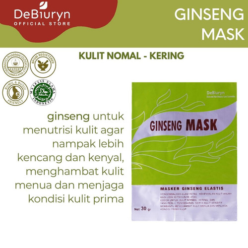 Foto Produk DeBiuryn Ginseng Mask 30gr - Masker Wajah Anti Aging dari Debiuryn Dermacosmetics