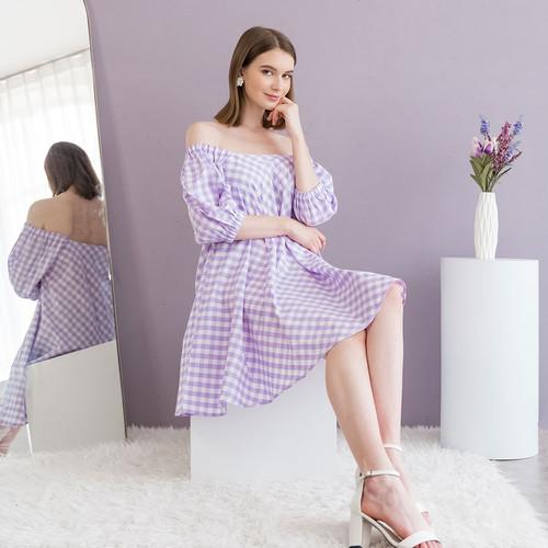 Foto Produk Chocochips - Jolie Dress Purple - Ungu, S dari Chocochips Official Shop