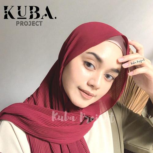 Foto Produk Pashmina Plisket Premium Hijab Pashmina Pleated Ceruty - Light Grey dari KUBA PROJECT