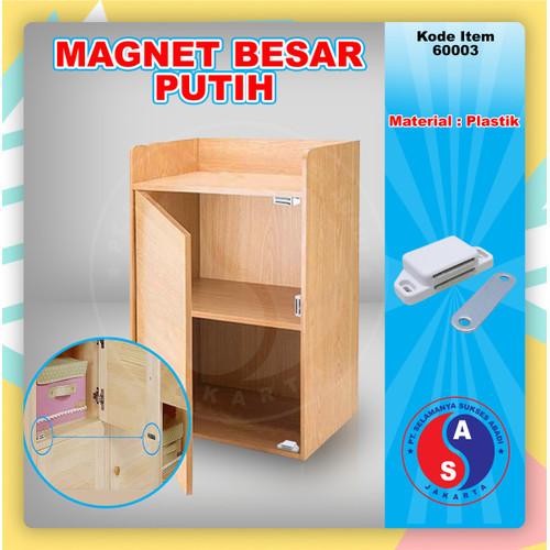 Foto Produk Magnet Kotak Besar Putih Lemari Pintu Kayu / Magnetic Catch / 60003 dari WINSTON-OK OFFICIAL STORE