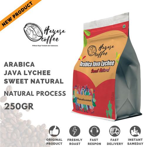 Foto Produk Kopi Arabika Java Lychee Sweet Natural (Preanger Arabica CM-Series) - Bubuk Kasar dari Hayasa Coffee