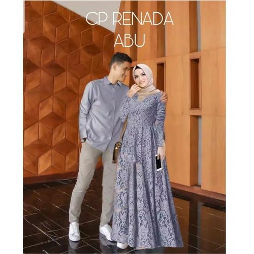 Foto Produk Couple Brukat Renada/Couple Fashion Brukat/Baju Pasangan Muslim/New - grey dari lapickmeupstores