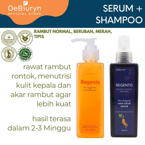 Foto Produk Regento Shampoo + Hair Tonic | Rambut Rontok & Kusam dari Debiuryn Dermacosmetics