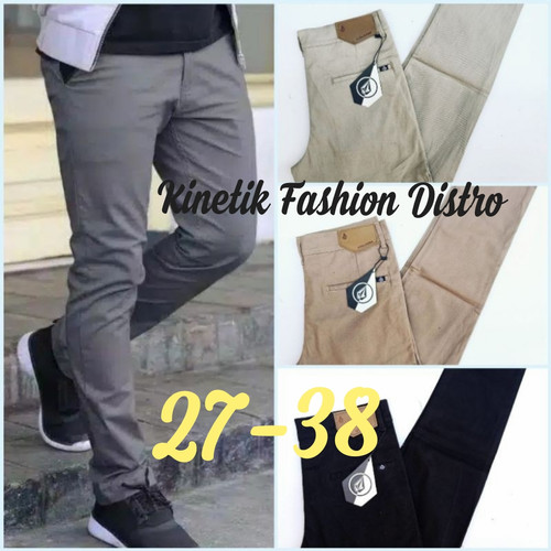 Foto Produk ORIGINAL Celana Panjang Pria l Chino Slim fit l Celana Kantor l libura - Abu-abu, 28 dari Kinetik Fashion Distro