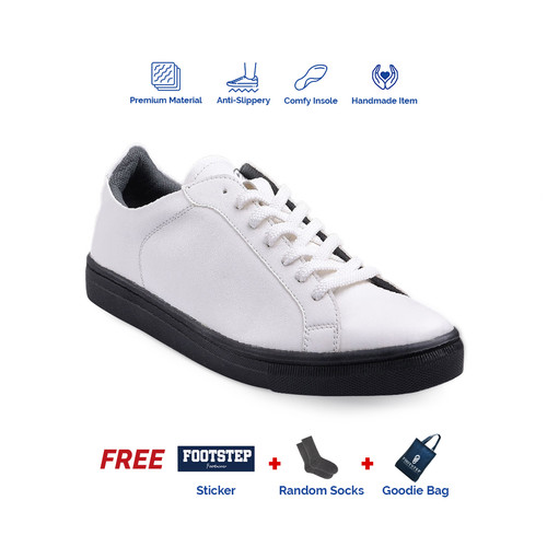 Foto Produk Sepatu Pria Sneakers Footstep Footwear - Beta White - 39 dari Footstep Footwear