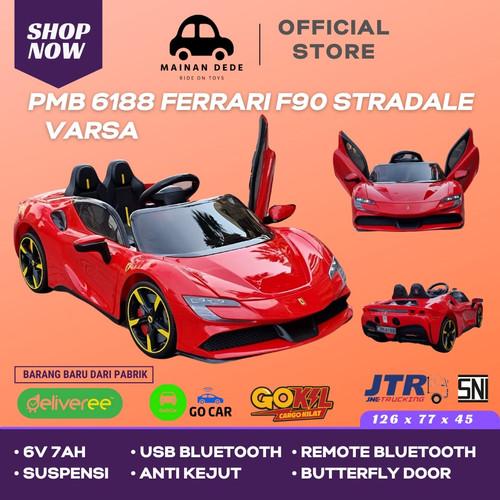 Foto Produk Mainan Mobil Aki Anak PMB 6188 Ferrari Varsa SF90 Stradale M6188 - Merah dari Mainan Anak Dede