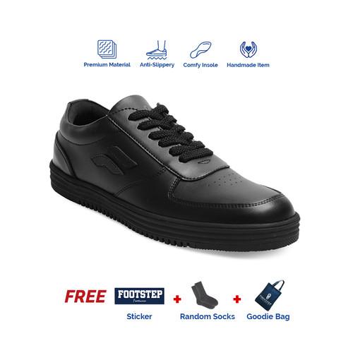 Foto Produk Sepatu Sneakers Pria Footstep Footwear - Wave Black - 43 dari Footstep Footwear