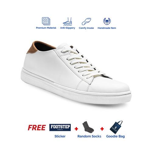 Foto Produk Sepatu Sneakers Pria Footstep Footwear - Alter White - Putih, 42 dari Footstep Footwear