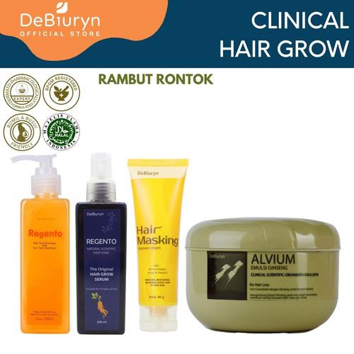 Foto Produk DeBiuryn Clinical Pack Hair Grow - Paket Perawatan Rambut Rontok 1000g dari Debiuryn Dermacosmetics