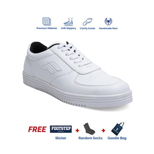 Foto Produk Sepatu Sneakers Pria Footstep Footwear - Wave White - 42 dari Footstep Footwear