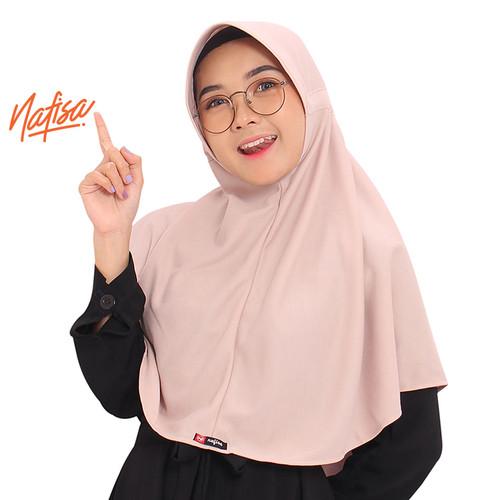 Foto Produk Nafisa Hijab Santai | Hijab Instan Serut Belakang Casual - Ungu Muda, M dari Nafisa