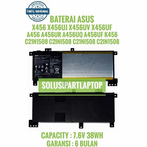 Foto Produk ORIGINAL BATERAI ASUS X456 A456 A456UR A456UQ A456UF K456 C21N1508 dari SolusiPartLaptop