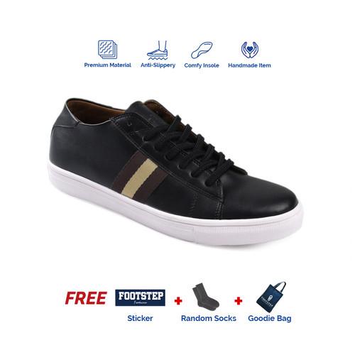Foto Produk Sepatu Sneakers Pria Footstep Footwear - Alton Black - 39 dari Footstep Footwear