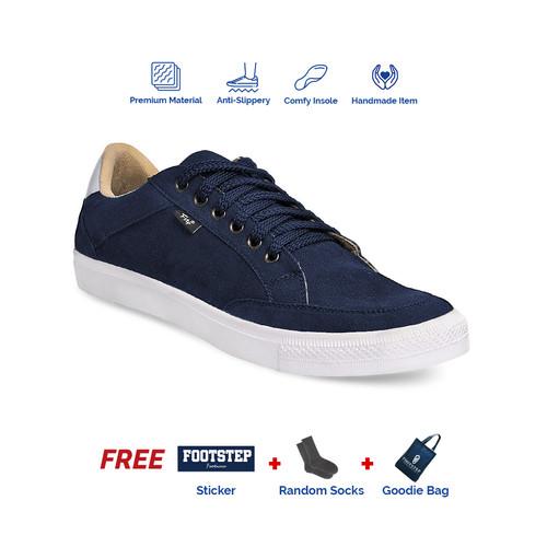 Foto Produk Sepatu Sneakers Pria Footstep Footwear - Arka Navy - 39 dari Footstep Footwear