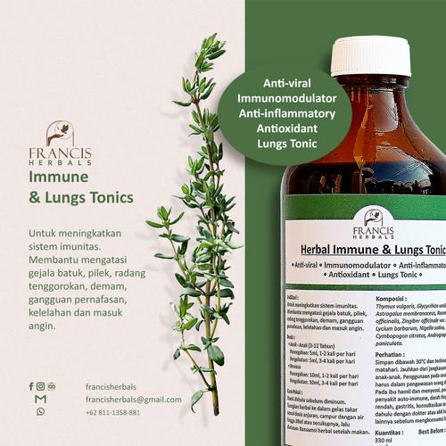 Foto Produk Francis Herbals Immune & Lungs Tonic 330Ml dari Francis Herbals