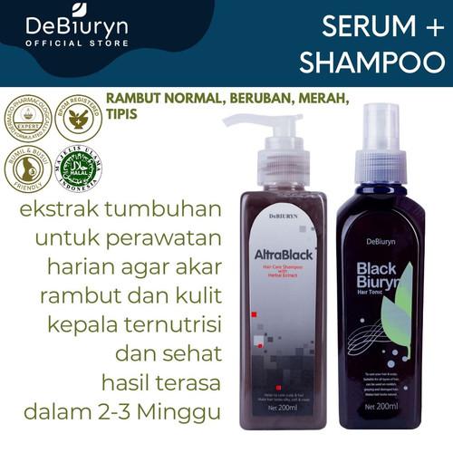 Foto Produk Altra Black Shampoo + Black Biuryn Hair Tonic | Semua Jenis Rambut dari Debiuryn Dermacosmetics