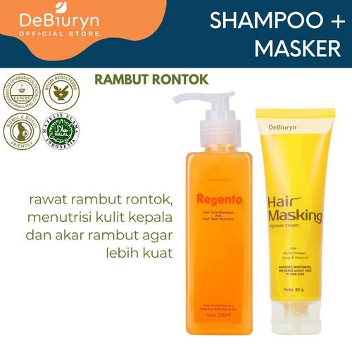 Foto Produk Regento Shampoo + Hair Mask | Rambut Rontok - Kusam dari Debiuryn Dermacosmetics