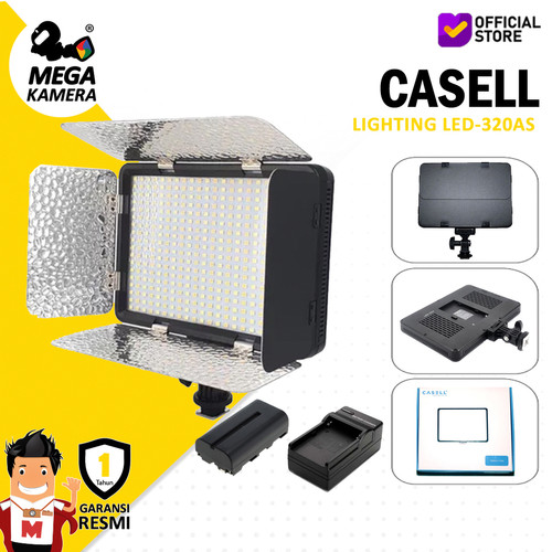 Foto Produk Casell LED-320AS Continuos Bi-Color Lighting On-Camera - Foto & Video dari Megakamera