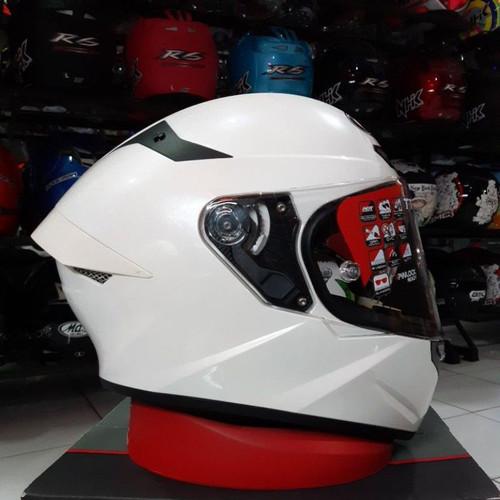 Foto Produk helm kyt tt course solid white original dari KOMPASHELMET