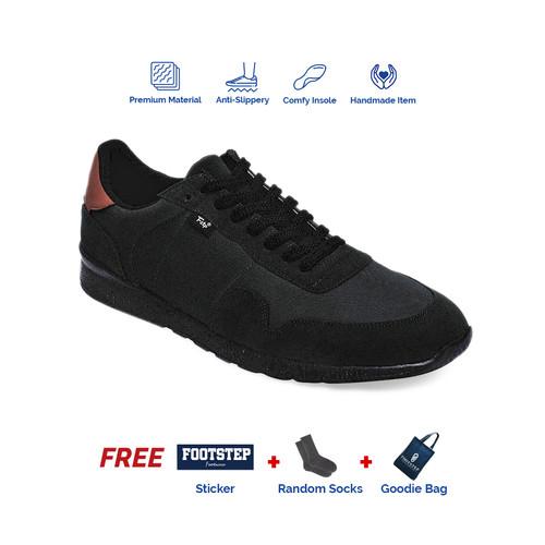 Foto Produk Sepatu Sneakers Pria Footstep Footwear - Nordic Black - 39 dari Footstep Footwear