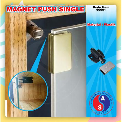 Foto Produk Magnet Hitam Single / Magnet Lemari Kaca Push Open kaca single/60001-8 dari WINSTON-OK OFFICIAL STORE