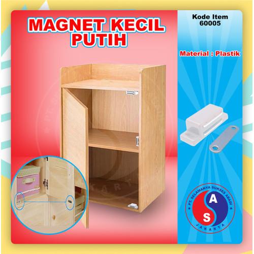 Foto Produk Magnet Kotak Kecil Putih Lemari Pintu Kayu / Magnetic Catch / 60005 dari WINSTON-OK OFFICIAL STORE