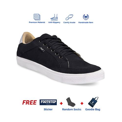 Foto Produk Sepatu Sneakers Pria Footstep Footwear - Arka Black - Hitam, 39 dari Footstep Footwear